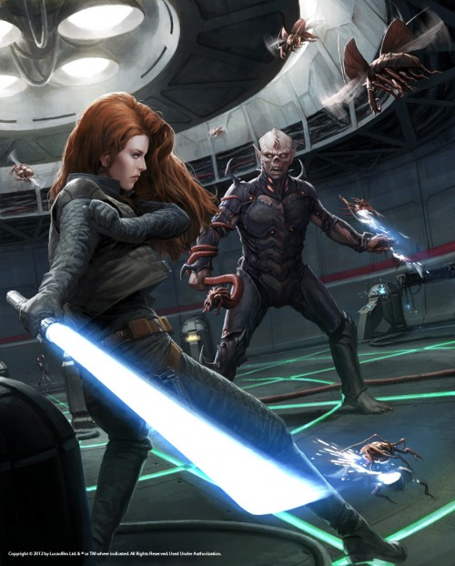 Mara Jade in Vector Prime. Illustration by Darren Tan for the Essential Reader's Companion.