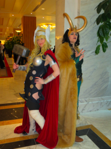 Genderswapped Thor and Loki