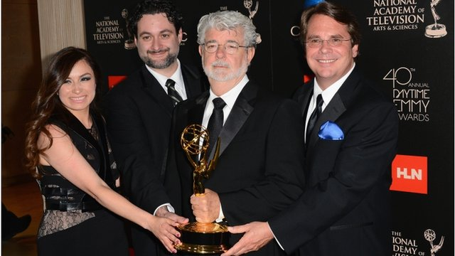 It took a little while  but George Lucas finally got himself an Emmy    George Lucas First Wife