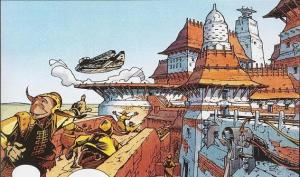 The Millennium Falcon arrives on Bimmisaari