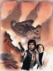 Han and Leia on the mission to Bpfassh