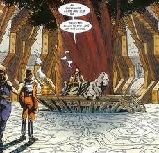Mara brings Luke to speak to Karrde