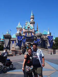 Sleeping Beauty castle might have been tiny, but it was all blinged out for the big 60th anniversary celebration.