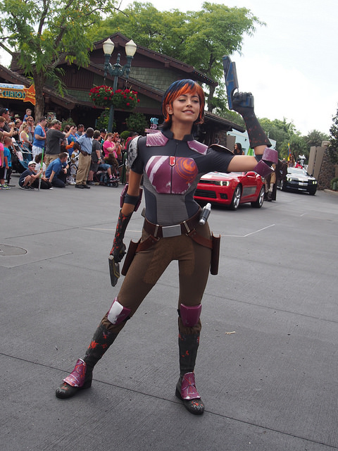 Sabine strikes a pose.