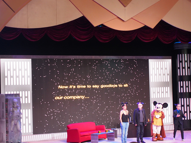 Amy Allen and Ian McDiarmid are joined by Jedi Mickey to say good-bye to all their company.