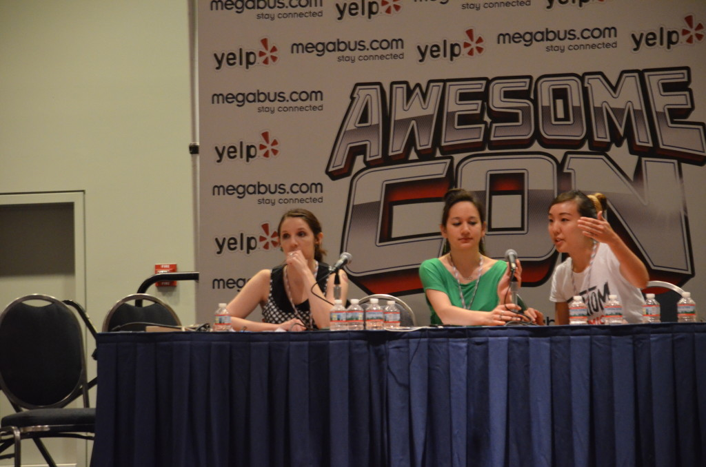 Amy, Bria, and Esther talk Diversity. [Photo Credit: Feed Your Nerd]