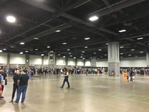 The line for Capaldi and Coleman less than half an hour after the convention opened on Sunday morning.