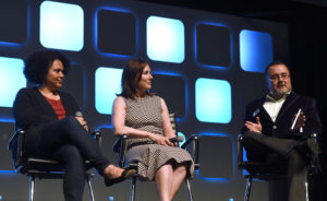 The Story Group represented at the Future Filmmakers Panel at SWCE. Copyright 2016 Ben Pruchnie/Getty Images